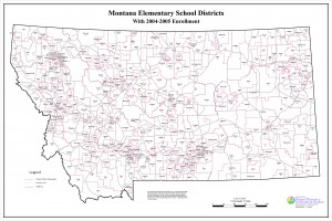 Montana Elementary School Districts Map