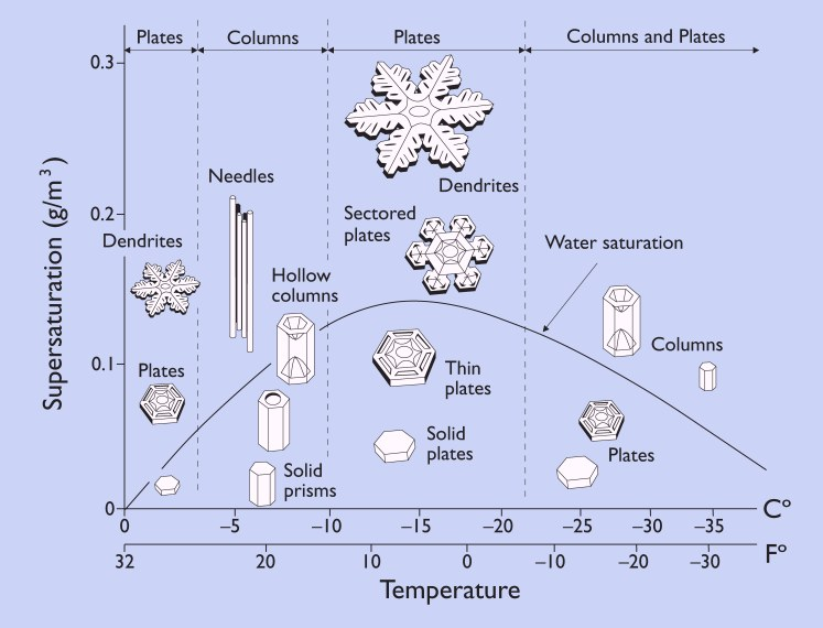 Figure 5.3: Snow Morphology Diagram. Image from URL: http://www.its.caltech.edu/~atomic/snowcrystals/primer/morphologydiagram.jpg